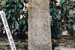 Support de croix daté de 1861, Le Teilloux