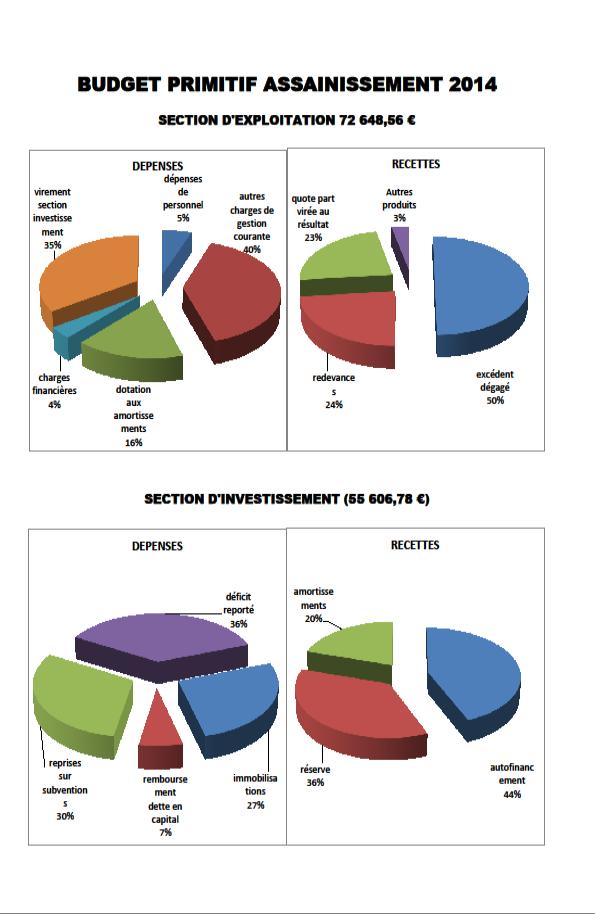 Budget primitif assainissement 2014